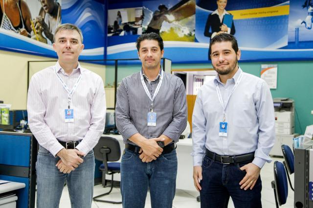 Júlio de Andrade, Edinardo de Aguiar e Rubens Palma Filho - Foto:  Kiko Sierich